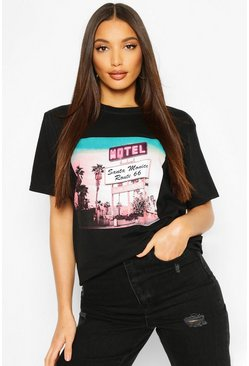 Black Tall Retro Graphic T-Shirt