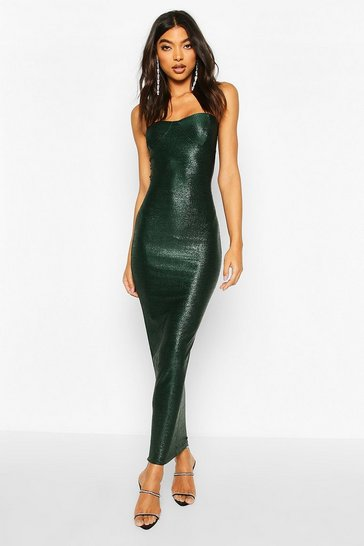 Emerald Tall Glitter Cup Detail Midaxi Dress