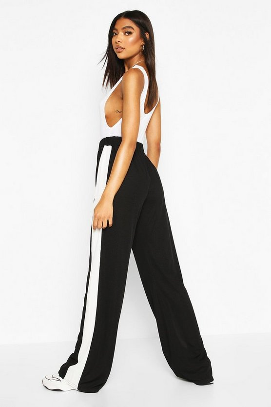 Tall Side Stripe Wide Leg Joggers