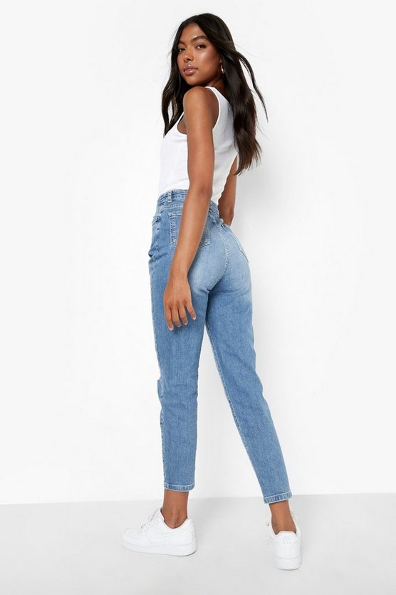 Tall Distressed Mom Jeans
