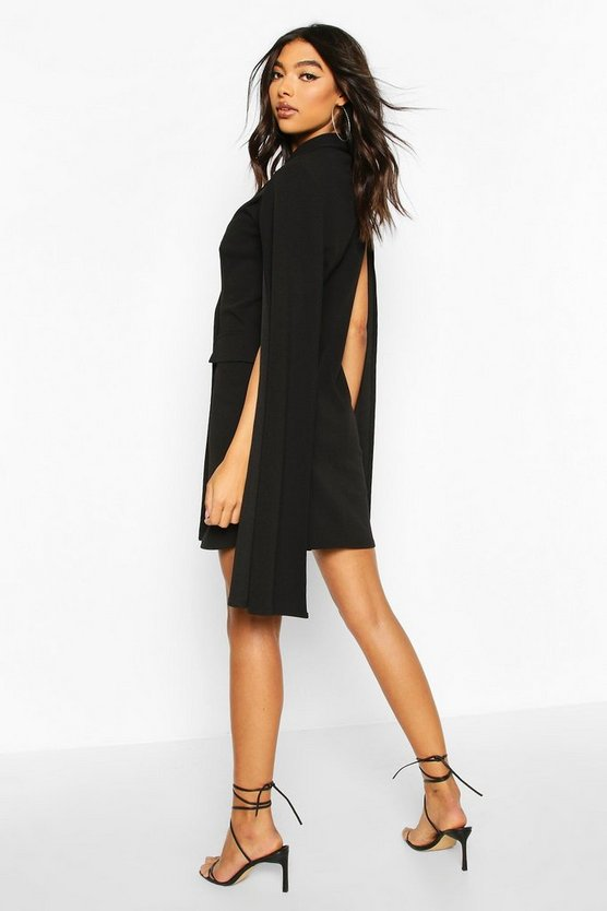 Tall Double Breasted Cape Blazer Dress