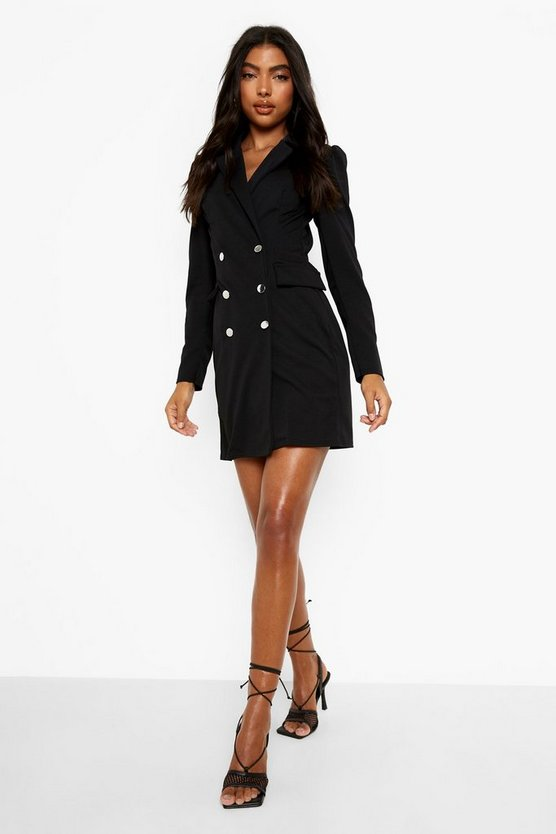 Tall Puff Sleeve Blazer Dress