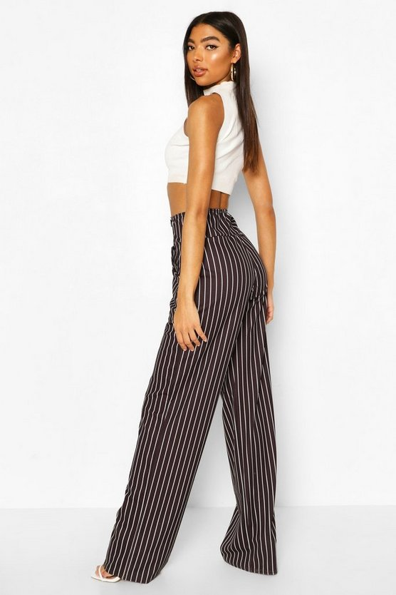 Tall High Waisted Pinstripe Trousers