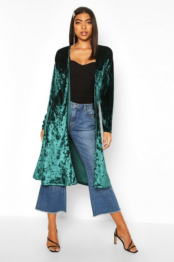 Tall Crushed Velvet Kimono