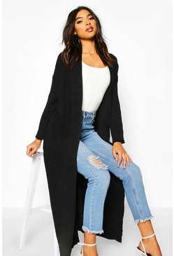 Dam Black Tall Premium Knit Maxi Cardigan