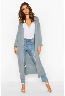 Grey Tall Premium Knit Maxi Cardigan