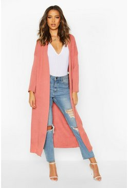 Womens Rose Tall Premium Knit Maxi Cardigan