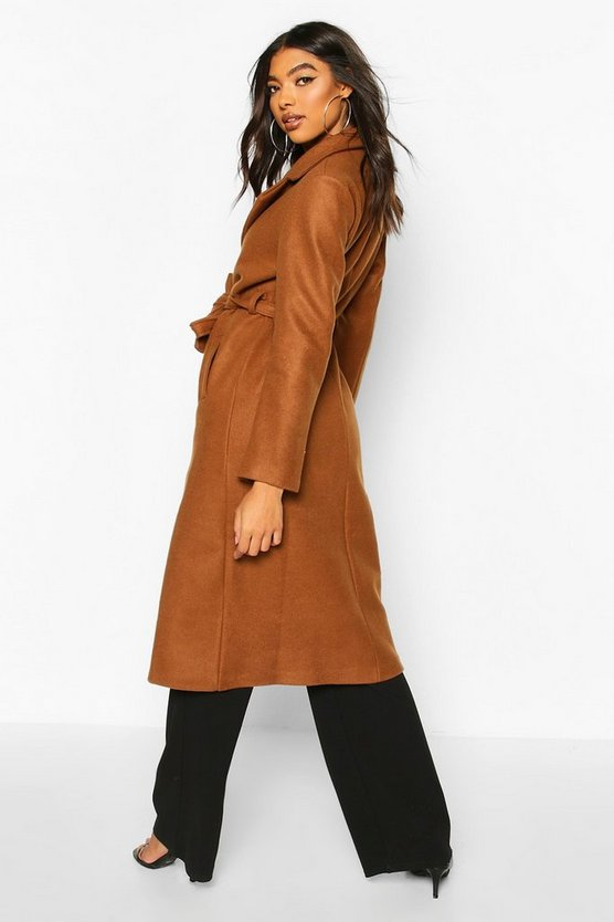 Tall Wool Belted Longline Coat