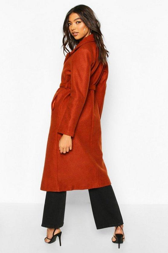 Tall Wool Belted Longline Coat