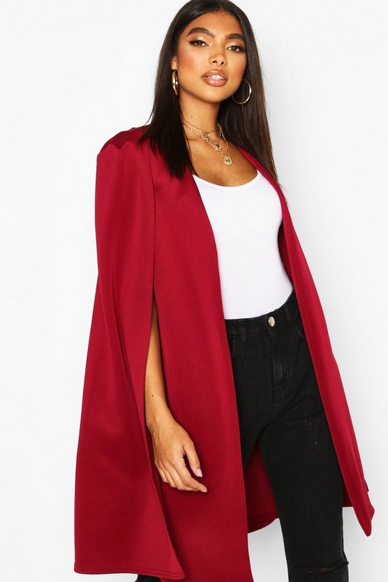 Berry Tall Longline Cape Blazer
