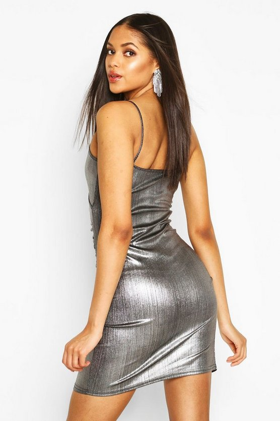 Tall Wrap Metallic Mini Dress