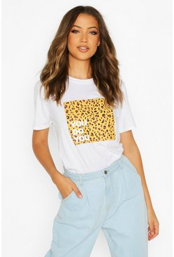Womens White Tall 'You Do You' Slogan T-Shirt