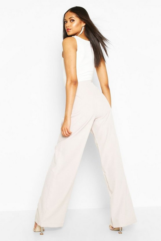 Tall Pleated High Waisted Wide Leg Trousers