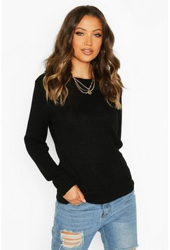 Black Tall Soft Knit Jumper