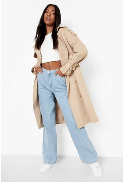 Womens Blue Tall High Rise Wide Leg Jeans