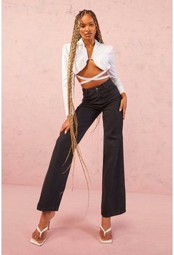 Dam Black Tall High Rise Wide Leg Jeans
