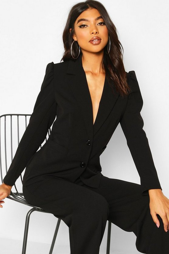 Tall Puff Sleeve Tailored Blazer