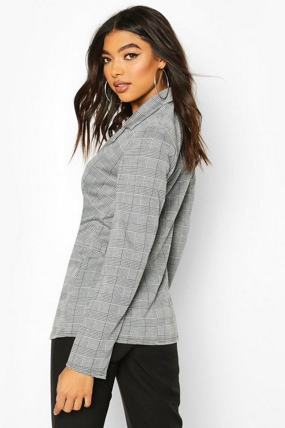 Tall Check Oversized Boyfriend Blazer