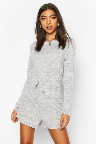 Grey Tall Tie Waist Lounge Playsuit