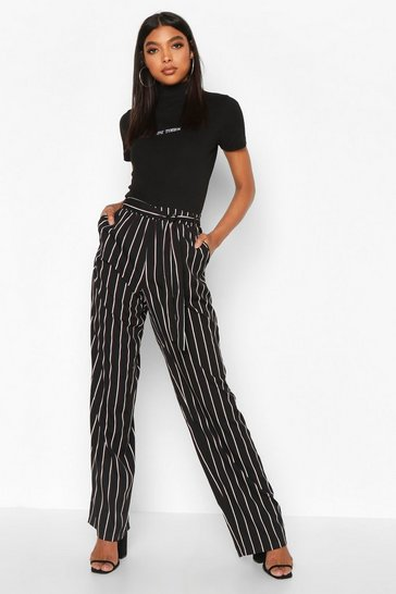 Black Tall Wide Leg Trouser