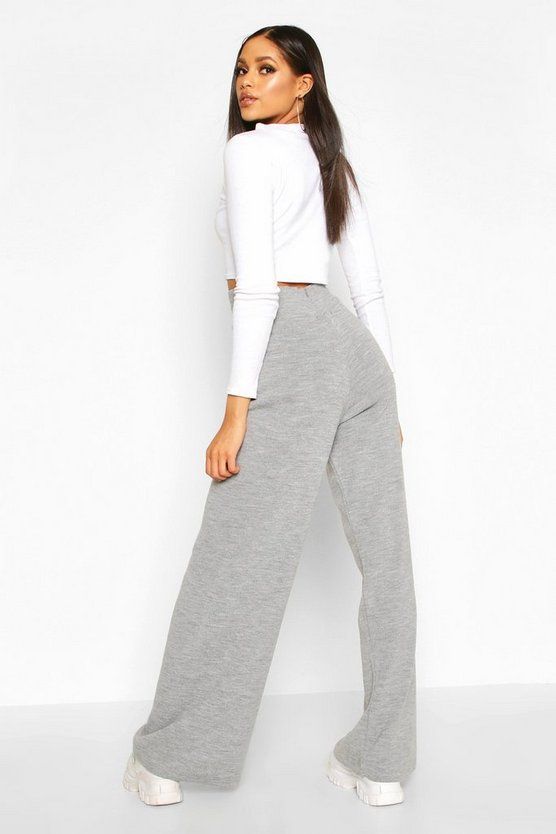 Tall Knitted Wide Leg Trousers