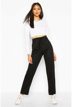 Womens Black Tall Straight Leg Joggers