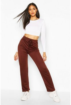 Chocolate Tall Straight Leg Joggers