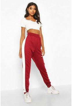 Berry Tall Contrast Panel Joggers