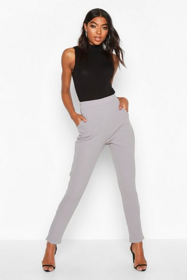 Grey Tall Basic Stretch Skinny Trousers