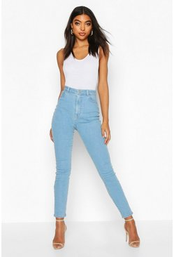 "Womens Tall Light Blue 36"""" Leg Skinny Jeans"