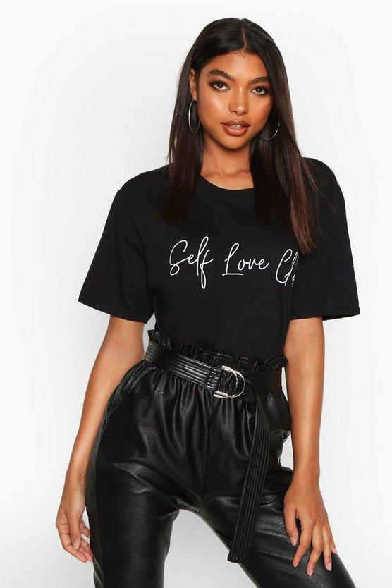Tall 'Self Love Club' Slogan T-Shirt