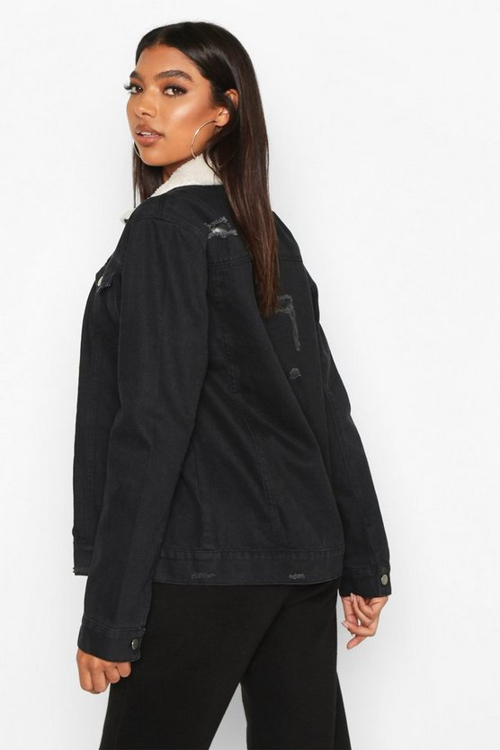 Tall Borg Lined Denim Jacket