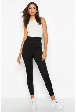 Black Tall Contour Waistband Ponte Leggings