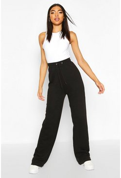 Womens Black Tall Wide Leg Joggers