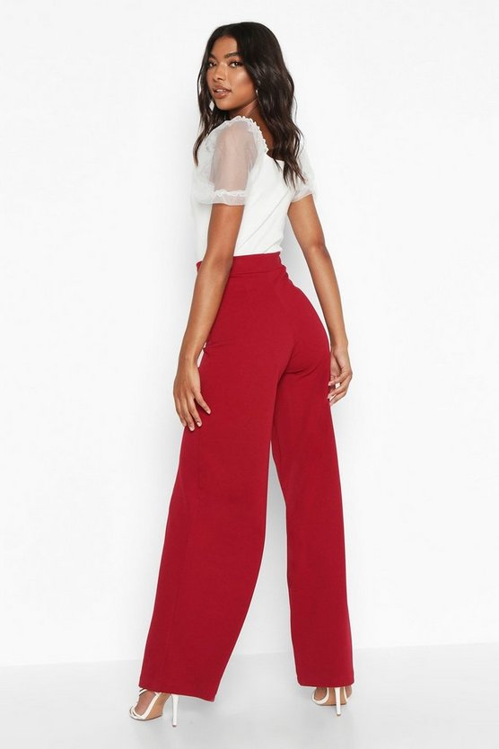 Tall Wide Leg Woven Trousers