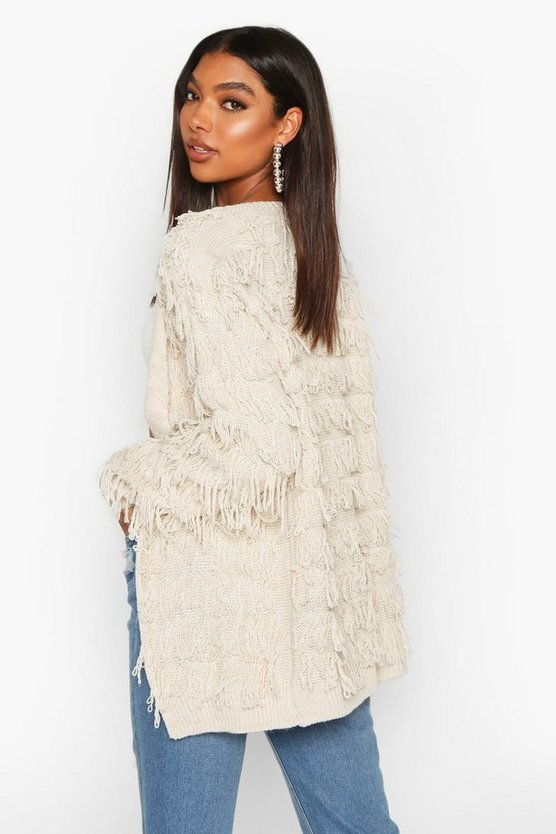 Tall Fringe Cardigan