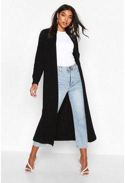 Black Tall Soft Knit Maxi Cardigan