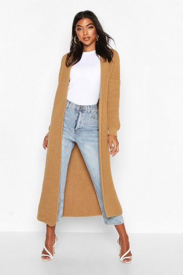 Camel Tall Soft Knit Maxi Cardigan
