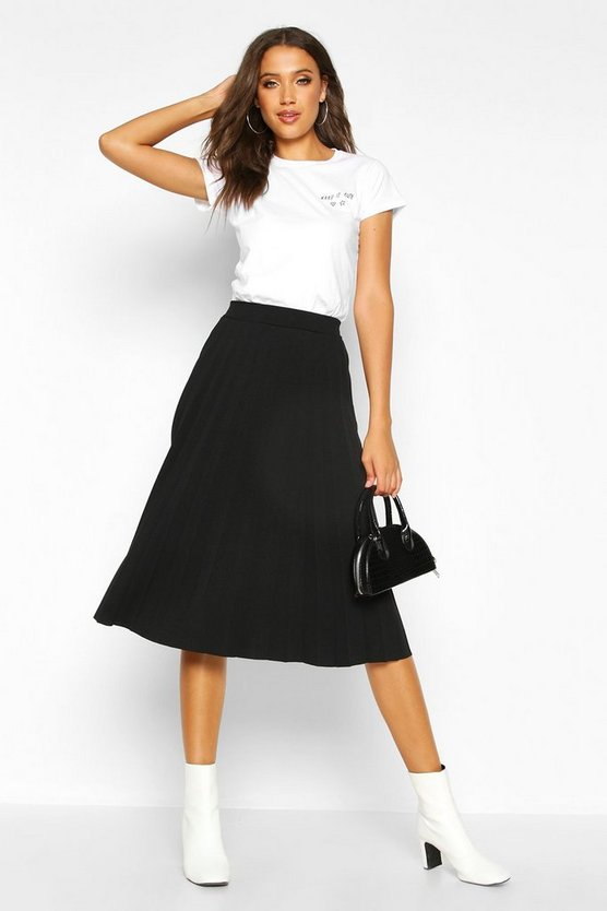 Tall Pleated Midi Skirt