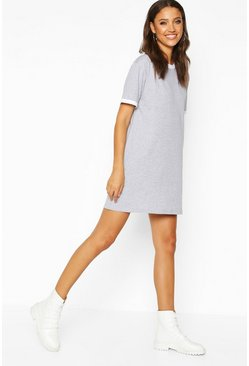Womens Grey Tall Ringer T-Shirt Dress