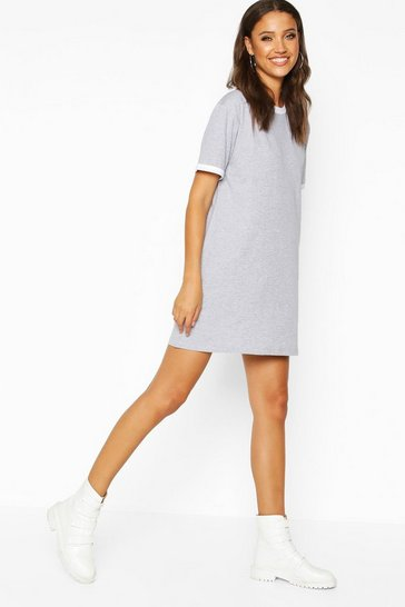 Grey Tall Ringer T-Shirt Dress