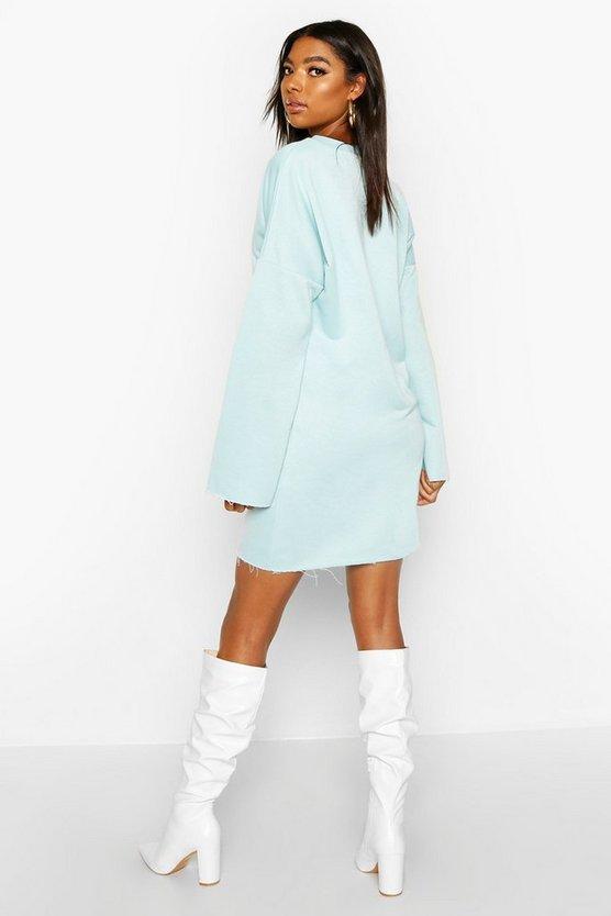 Tall Raw Edge Sweat Dress