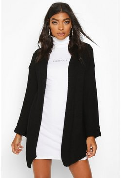 Black Tall Wide Sleeve Edge to Edge Cardigan