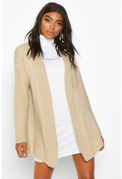 Womens Stone Tall Wide Sleeve Edge to Edge Cardigan