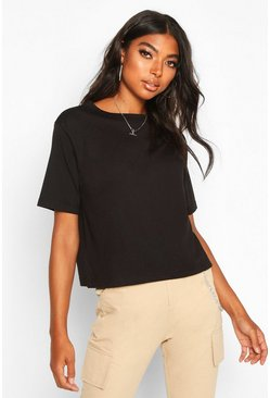 T-shirt Tall basic squadrata, Nero