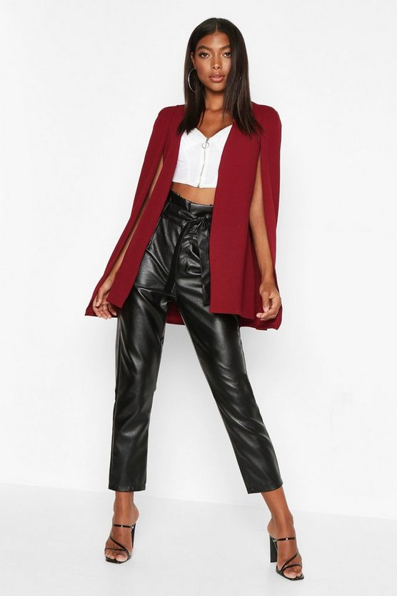 Tall Edge To Edge Tailored Cape by Boohoo