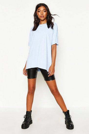Womens Blue Tall Oversized Vintage Wash T-Shirt