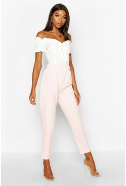 Womens Rose Tall Woven Ankle Grazer Trousers
