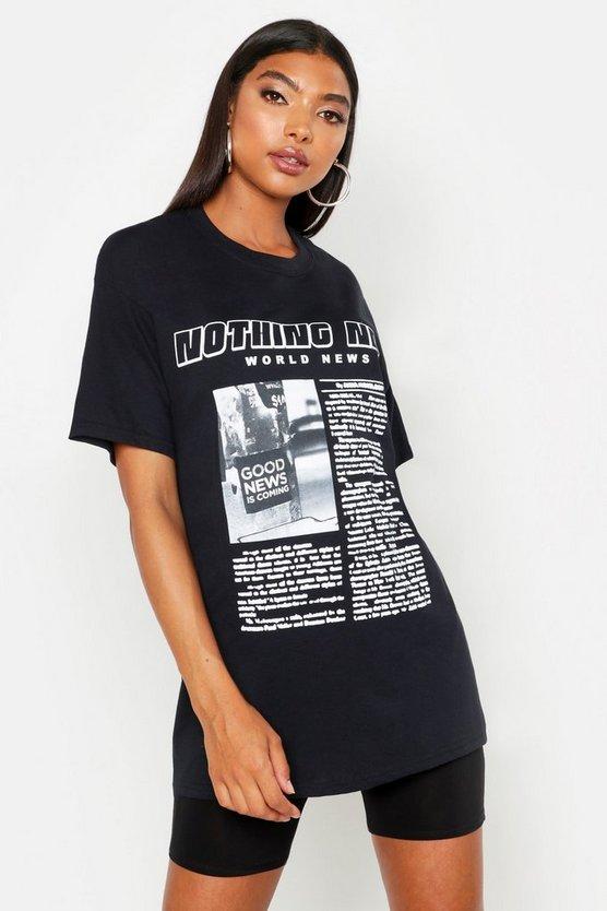 Tall Nothing New Slogan T Shirt by Boohoo