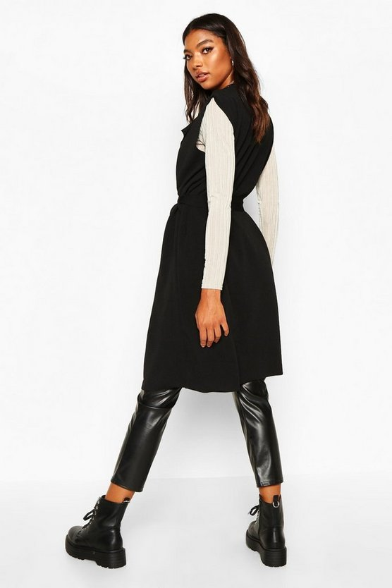 Tall Belted Sleeveless Duster
